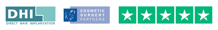 DHI Cosmetic Surgery Partners 5 star review logos